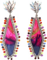 Erickson Beamon Bird Of Prey Rhombus Earrings