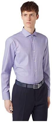 HUGO BOSS Mark Slim Fit Cotton Dress Shirt By White) Men's Clothing
