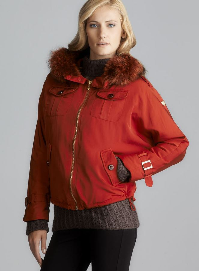 1 Madison Water Repellent Anorak With Detachable Fur Lined Hood