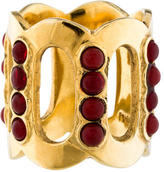 Melinda Maria Wide Bead Ring