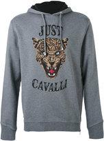 Just Cavalli tiger face print hoodie
