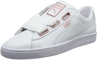 Puma Women's Basket Heart Leather Low-Top Sneakers