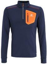 Salomon Trail Runner Warm Sports Shirt Big Blue/vivid Orange