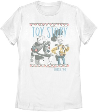 Disney Juniors' Pixar Toy Story Buzz & Woody Graphic Tee