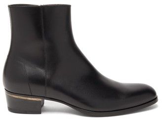 Dunhill Duke Leather Boots - Mens - Black