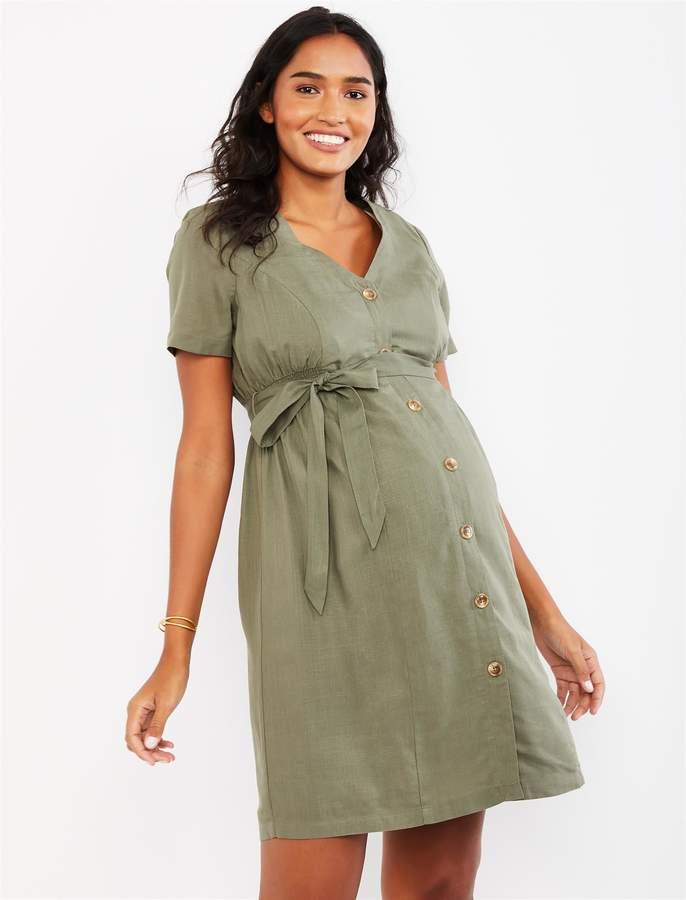 978da6a34a Linen Maternity Dress - ShopStyle
