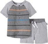 Splendid Mix Stripe Short Set (Baby) - Stripe - 18-24