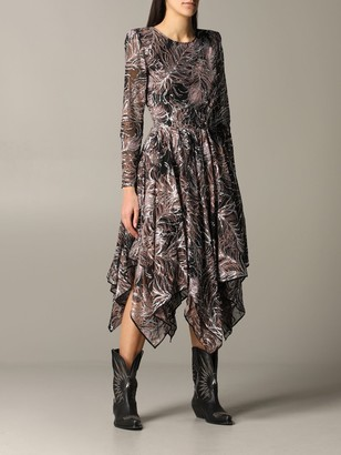 Etro Long Dress With Asymmetrical Hem