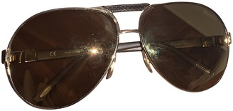 Chopard Brown Leather Sunglasses