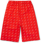 Balenciaga Printed Cotton-Poplin Shorts