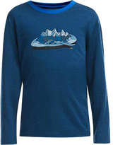 Icebreaker Boys' Tech Long Sleeve Crewe Alps For Breakfast Tee - Night/Awesome Graphic T Shirts