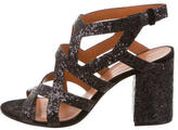 Givenchy Glittered Round-Toe Sandals