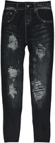 Black Distressed Jeggings
