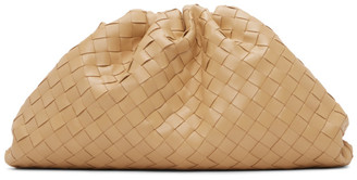 Bottega Veneta Beige Intrecciato The Pouch Clutch