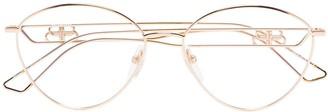 Balenciaga Eyewear BB wire frame glasses