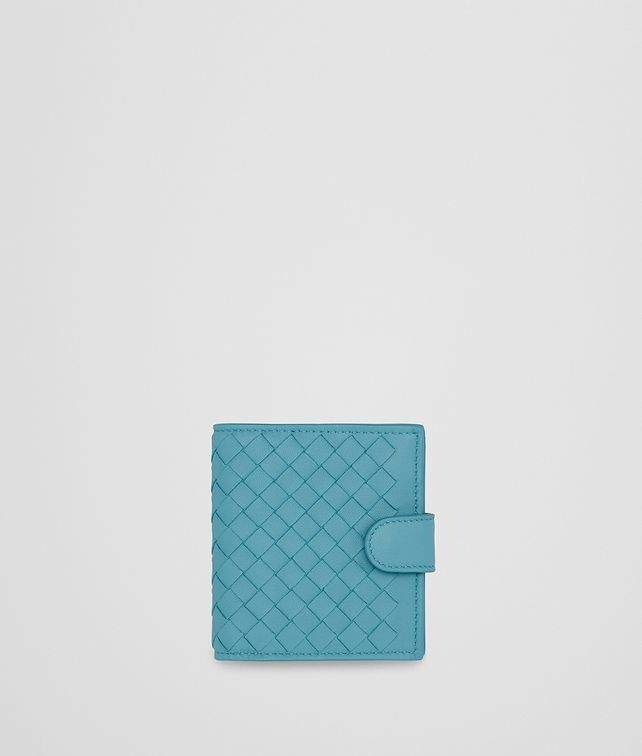 Bottega Veneta Aqua Intrecciato Nappa Mini Wallet
