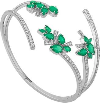 Hueb Botanica Emerald & Diamond Cuff