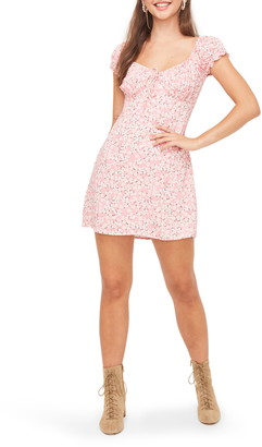 ALL IN FAVOR Floral Print Puff Sleeve Minidress