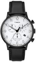Timex R Waterbury Chronograph Leather Strap Watch, 40mm