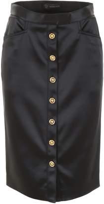 Versace Button-Front Pencil Skirt