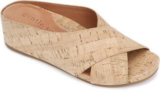 Gentle Souls By Kenneth Cole Gianna X-Band Cork Slide Sandal