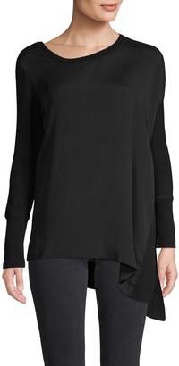 Richard Quinn Long-Sleeve Asymmetrical Top
