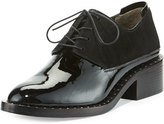3.1 Phillip Lim Alexa Studded Patent Oxford, Black