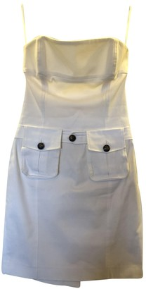 DSQUARED2 White Cotton - elasthane Dresses