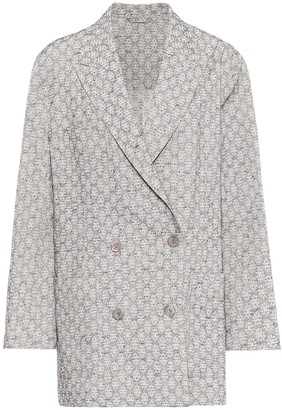 Acne Studios Floral-jacquard blazer