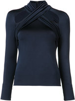 Cushnie et Ochs fitted cut-out detail top - women - Polyamide/Spandex/Elastane/Viscose - 2