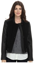 Cole Haan Bubble Lam Bomber Jacket w/ Wool Body
