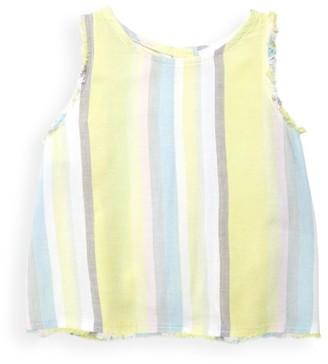 Bella Dahl Little Girl's & Girl's Sunny Lime Strip Top