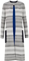 Amanda Wakeley Tapis White Jacquard Coat
