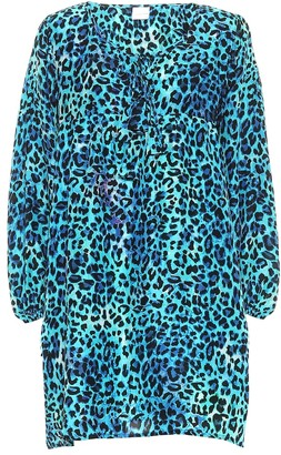 Anna Kosturova Exclusive to Mytheresa Leopard-print silk minidress