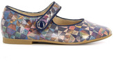 Pom D'Api Metallic Patent Daisy Baby Shoes