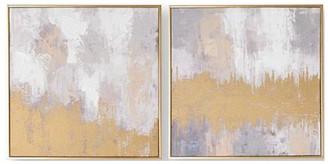 Graham & Brown Laguna Mist Handpainted Canvas In Boxed Frame