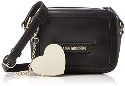 Love Moschino Borsa Calf Pu Nero, Women's Baguette,8x13x18 cm (B x H T)