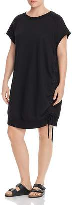 Andrew Marc Plus French Terry Lace-Up Dress