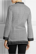 Tory Burch Tory beaded printed cotton-voile tunic