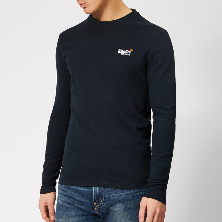 Superdry Orange Label Vintage Embroidery LS T-Shirt Eclipse Navy