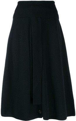Joseph Button Front Midi Skirt
