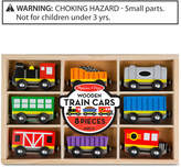 Melissa & Doug Wooden Train Cars and Pieces