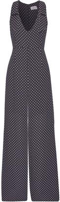 Zimmermann Bow-embellished Printed Crepe Wide-leg Jumpsuit