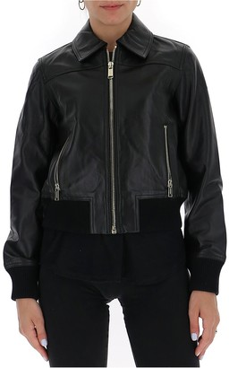 MICHAEL Michael Kors Ribbed Biker Jacket
