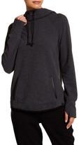Andrew Marc Funnel Neck Hooded Sweatshirt
