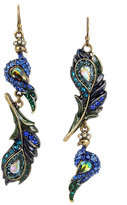 Betsey Johnson Statement Critters Peacock Drop Earrings