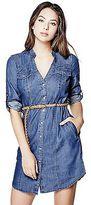 GUESS Women's Kimia Chambray Shirtdress
