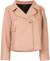 Jil Sander Navy zipped fitted jacket