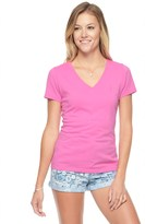 Juicy Couture Jc Embellished V Neck Tee