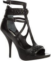 Max Studio Esprit - Strappy High Heeled Leather Sandals